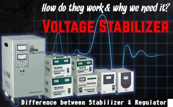 Sự khác biệt giữa Bộ điều chỉnh điện áp Voltage regulator và Bộ ổn áp Voltage stabilizer là gì?