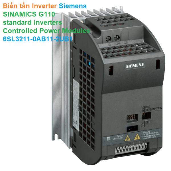 Biến tần Inverter Siemens - SINAMICS G110 standard inverters - Controlled Power Modules - 6SL32110AB112UB1