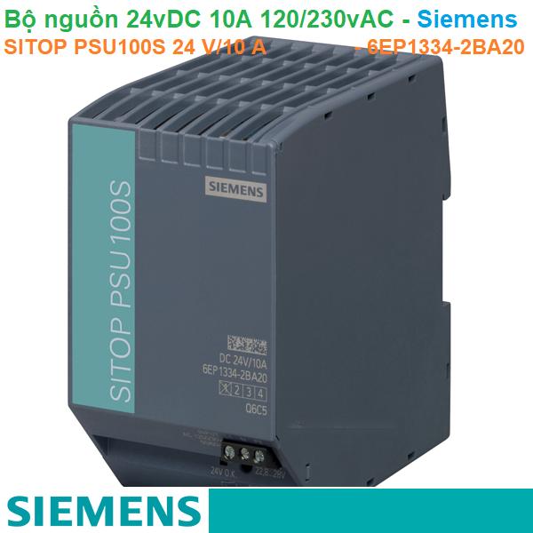 Bộ nguồn 24vDC 10A 1AC 120/230V - Siemens - SITOP PSU100S 24 V/10 A - 6EP1334-2BA20