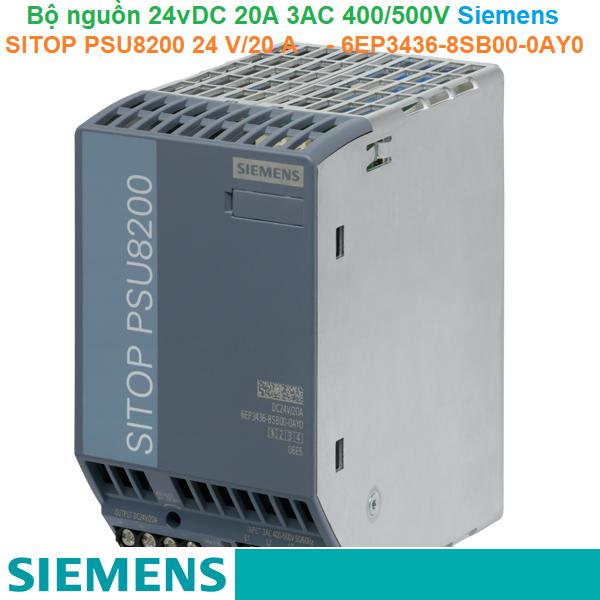 Bộ nguồn 24vDC 20A 3AC 400/500V - Siemens - SITOP PSU8200 24 V/20 A - 6EP3436-8SB00-0AY0
