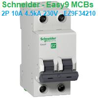 CB tép MCB - Schneider - Easy9 MCBs - 2P 10A 4.5kA 230V - EZ9F34210