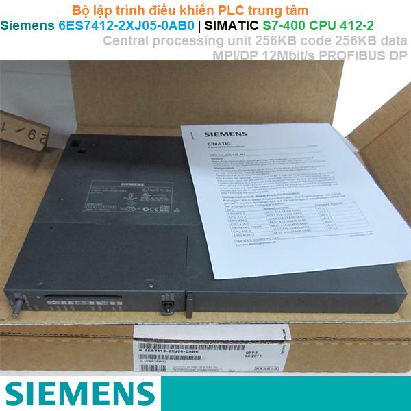 Siemens 6ES7412-2XJ05-0AB0   SIMATIC S7-400 CPU 412-2 Central processing unit -Bộ lập trình PLC trung tâm
