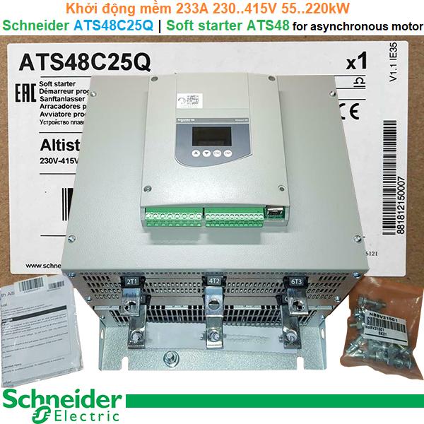 Schneider ATS48C25Q | Soft starter -Khởi động mềm ATS48 233A 230..415V 55..220kW