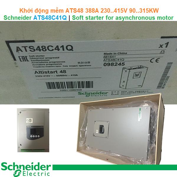 Schneider ATS48C41Q | Soft starter -Khởi động mềm ATS48 388A 230..415V 90..315KW
