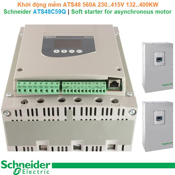 Schneider ATS48C59Q | Soft starter ATS48 -Khởi động mềm 560A 230..415V 132..400KW