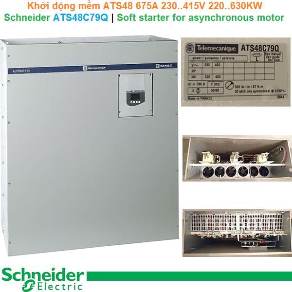 Schneider ATS48C79Q | Soft starter ATS48 -Khởi động mềm 675A 230..415V 220..630KW
