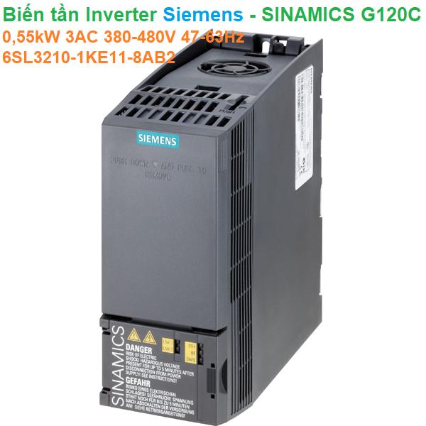 Biến tần Inverter Siemens - SINAMICS G120C 0,55kW 3AC 380-480V47-63Hz - 6SL3210-1KE11-8AB2