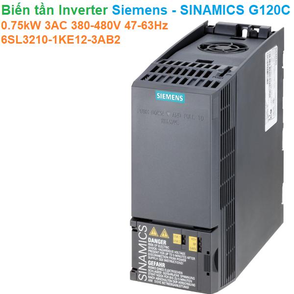 Biến tần Inverter Siemens - SINAMICS G120C 0.75kW 3AC 380-480V47-63Hz - 6SL3210-1KE12-3AB2
