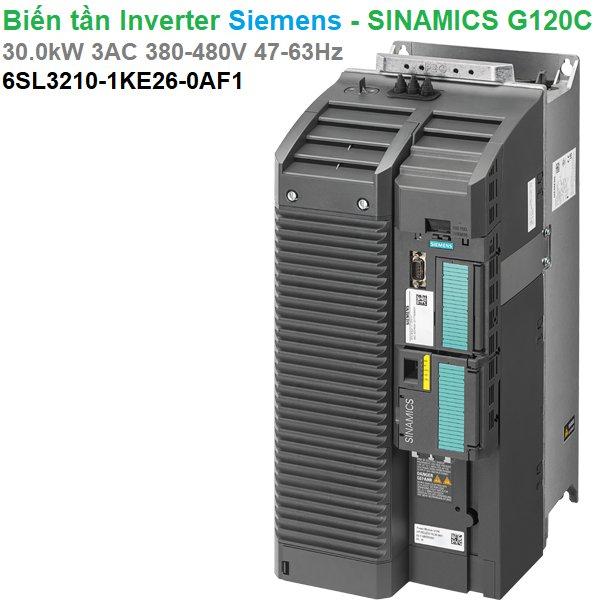 Biến tần Inverter Siemens - SINAMICS G120C 30.0kW 3AC 380-480V47-63Hz - 6SL3210-1KE26-0AF1