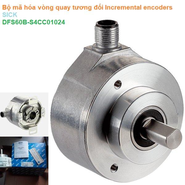 Bộ mã hóa vòng quay tương đối Incremental encoders - SICK - DFS60B-S4CC01024 (1038921)