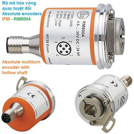 Bộ mã hóa vòng quay tuyệt đối Absolute encoders - IFM - RM8004 Absolute multiturn encoder with hollow shaft