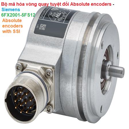 Bộ mã hóa vòng quay tuyệt đối Absolute encoders - Siemens - 6FX2001-5FS12 Absolute encoders with SSI