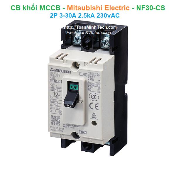 CB khối MCCB - Mitsubishi Electric - NF30-CS 2P 3-30A 2.5kA 230vAC
