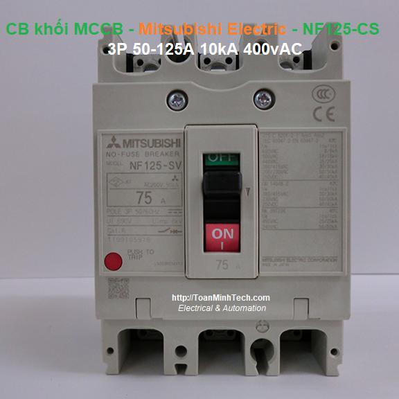 CB khối MCCB - Mitsubishi Electric - NF125-CS 3P 50-125A 10kA 400vAC