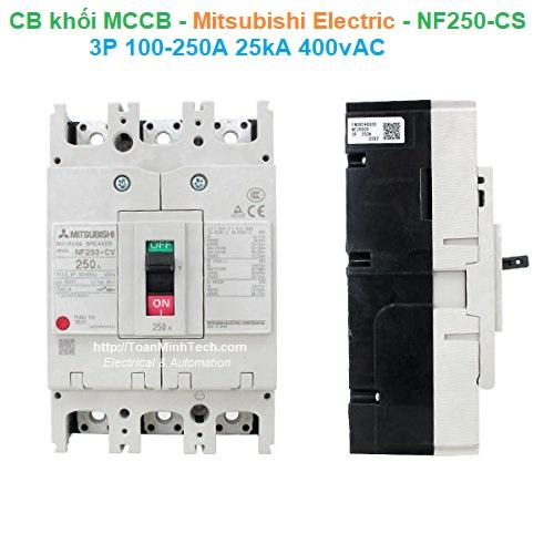 CB khối MCCB - Mitsubishi Electric - NF250-CS 3P 100-250A 25kA 400vAC