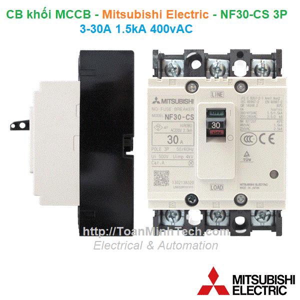 CB khối MCCB - Mitsubishi Electric - NF30-CS 3P 3-30A 1.5kA 400vAC