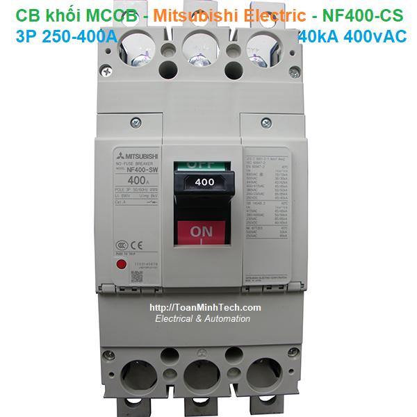 CB khối MCCB - Mitsubishi Electric - NF400-CS 3P 250-400A 40kA 400vAC