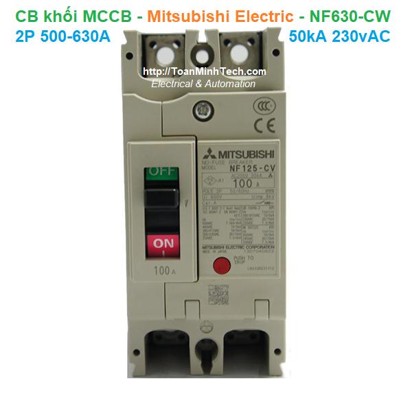 CB khối MCCB - Mitsubishi Electric - NF630-CW 2P 500-630A 50kA 230vAC