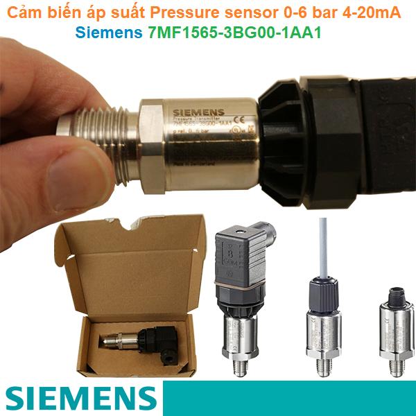 Cảm biến áp suất Pressure sensor 0-6 bar 4-20mA - Siemens - 7MF1565-3BG00-1AA1