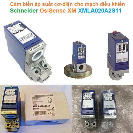 Cảm biến áp suất cơ-điện cho mạch điều khiển - Schneider - OsiSense XM XMLA020A2S11