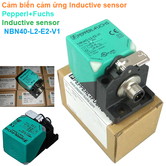 Cảm biến cảm ứng Inductive sensor - Pepperl+Fuchs - Inductive sensor NBN40-L2-E2-V1