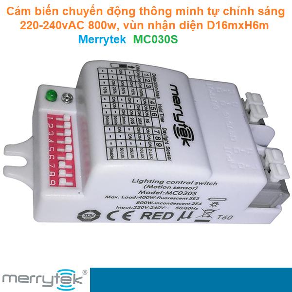 Cảm biến chuyển động thông minh tự chỉnh sáng 220-240vAC 800w 16m×6m - Merrytek - MC030S