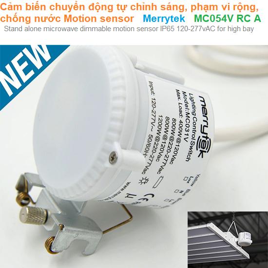 Cảm biến chuyển động tự chỉnh sáng, phạm vi rộng, chống nước Motion sensor - Merrytek - MC054V RC A