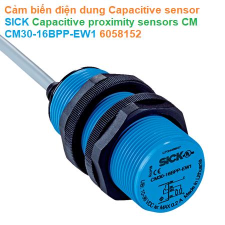 Cảm biến điện dung Capacitive sensor - SICK - Capacitive proximity sensors CM CM30-16BPP-EW1 (6058152)