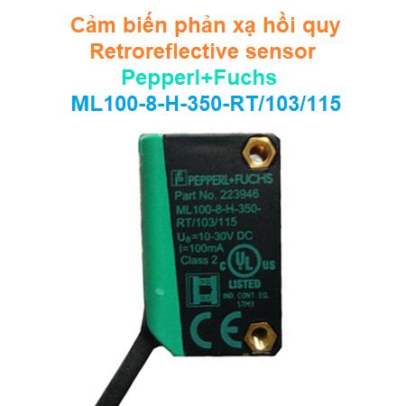 Cảm biến quang điện khuếch tán Diffuse mode sensor - Pepperl+Fuchs - ML100-8-H-350-RT/103/115