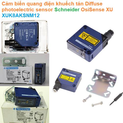Cảm biến quang điện khuếch tán Diffuse photoelectric sensor - Schneider - OsiSense XU XUK8AKSNM12