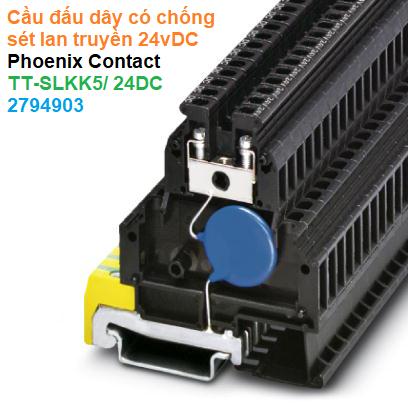 Cầu đấu dây có chống sét lan truyền 24vDC - Phoenix Contact - TT-SLKK5/ 24DC - 2794903