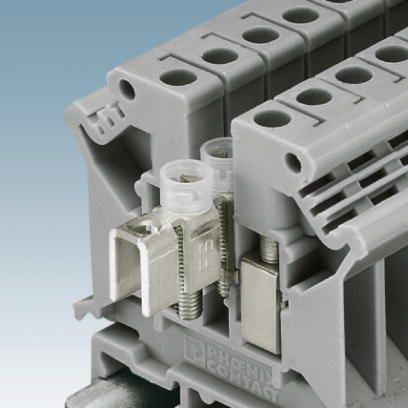 Cầu đấu nối điện 4mm2 Feed-through terminal block - Phoenix Contact - UK 5 N