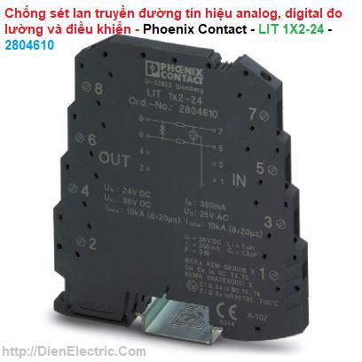 Chống sét lan truyền đường tín hiệu analog, digital đo lường và điều khiển - Phoenix Contact - LIT 1X2-24 - 2804610