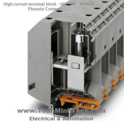 Cầu đấu nối điện 240mm2 High-current terminal block - Phoenix Contact - UKH 240