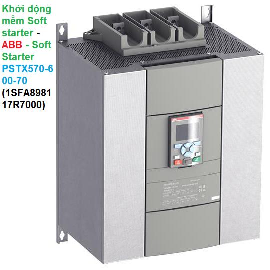 Khởi động mềm Soft starter - ABB - Soft Starter PSTX570-600-70 1SFA898117R7000
