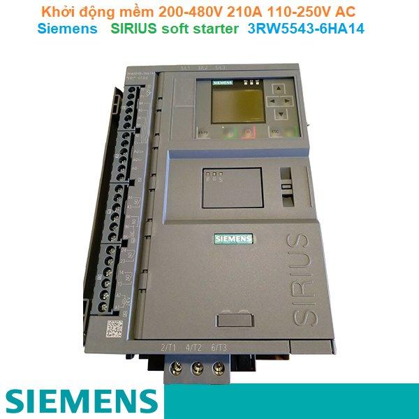 Khởi động mềm 200-480V 210A 110-250V AC - Siemens - SIRIUS soft starter 3RW5543-6HA14