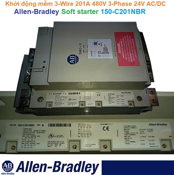Khởi động mềm 3-Wire 201A 480V 3-Phase 24V AC/DC  - Allen-Bradley - 150-C201NBR