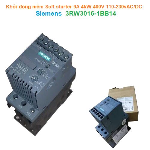 Khởi động mềm Soft starter 9A 4kW 400V 110-230vAC/DC - Siemens - 3RW3016-1BB14