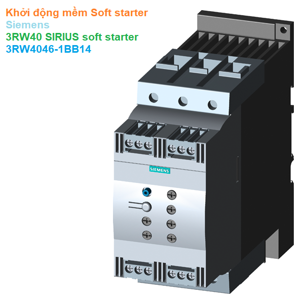 Khởi động mềm Soft starter - Siemens - 3RW40 SIRIUS soft starter 3RW4046-1BB14