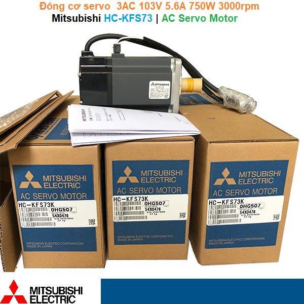 Mitsubishi HC-KFS73 | AC Servo Motor -Đông cơ servo 3AC103V 5.6A 750W 3000rpm