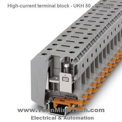 Cầu đấu nối điện 50mm2 High-current terminal block - Phoenix Contact- UKH 50