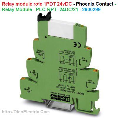 Relay module rơle 1PDT 24vDC 5V 6A - Phoenix Contact - Relay Module - PLC-RPT- 24DC/21 - 2900299