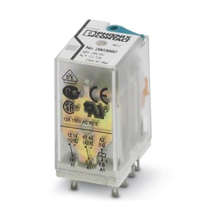 Relay kiếng 24V, 2 cặp tiếp điểm, 10A - Phoenix Contact - Single relay - REL-IR2/LDP- 24DC/2X21