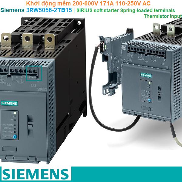 Siemens 3RW5056-2TB15 | Khởi động mềm SIRIUS soft starter 200-600V 171A 110-250V AC Spring-loaded terminals Thermistor input