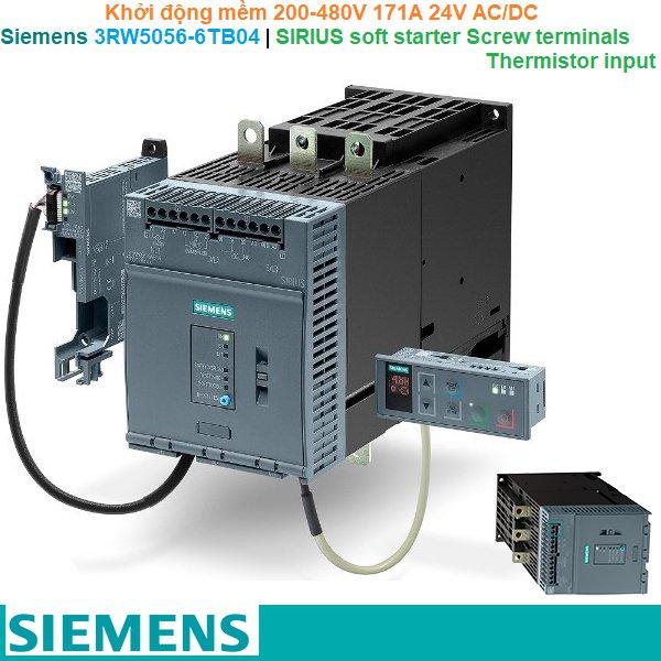 Siemens 3RW5056-6TB04 | Khởi động mềm SIRIUS soft starter 200-480V 171A 24V AC/DC Screw terminals Thermistor input