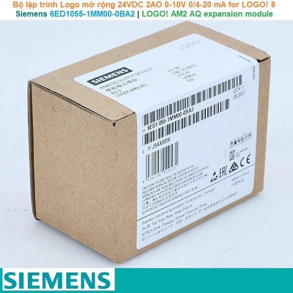 Siemens 6ED1055-1MM00-0BA2 | LOGO! AM2 AQ expansion module -Bộ lập trình Logo mở rộng 24VDC 2AO 0-10V 0/4-20 mA for LOGO! 8