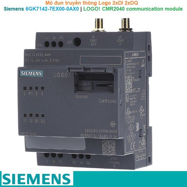 Siemens 6GK7142-7EX00-0AX0   LOGO! CMR2040 communication module -Mô đun truyền thông Logo 2xDI 2xDQ