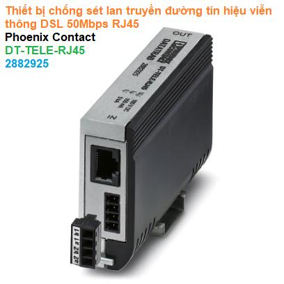 Thiết bị chống sét lan truyền đường tín hiệu viễn thông DSL 50Mbps RJ45 - Phoenix Contact - DT-TELE-RJ45 - 2882925
