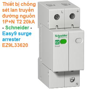 Thiết bị chống sét lan truyền đường nguồn T2 1P+N 20kA -Schneider - Easy9 surge arrester EZ9L33620