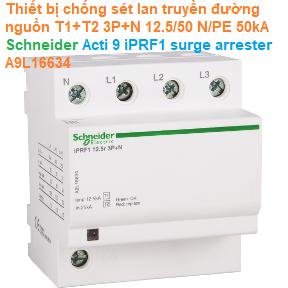 Thiết bị chống sét lan truyền đường nguồn T1+T2 3P+N 12.5/50 N/PE 50kA - Schneider - Acti 9 iPRF1 surge arrester A9L16634
